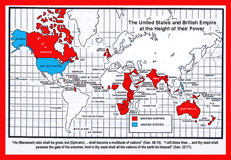 The United States And The British Empire FORETOLD In The Bible - Us empire map pacific